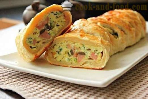 Recipe puff cake with ham and cheese