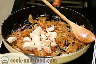 Beef liver with onions and mushrooms recipe