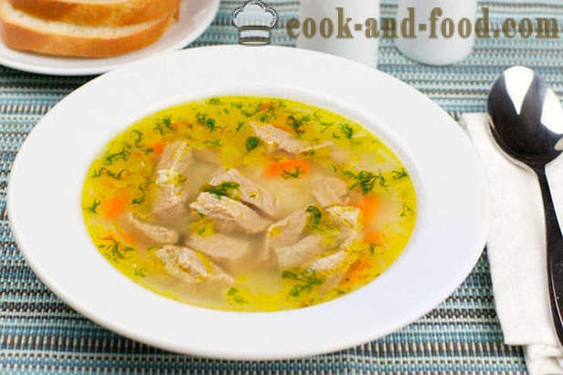 Vegetable soup with meat and rice