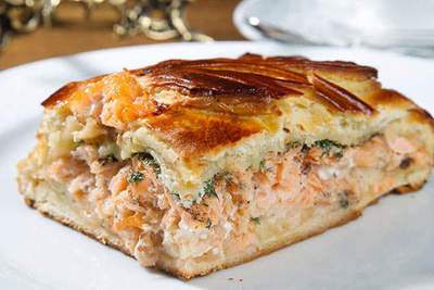 Fish pie with potatoes