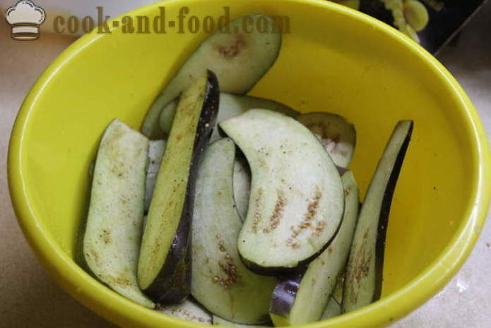 Eggplant with nuts in Georgian - how to prepare eggplant with nuts in Georgian, with a step by step recipe photos