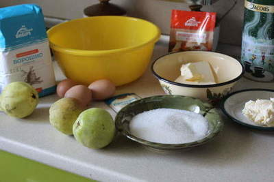 Pear pie dough - how to bake a cake with pears, custard and soufflé in the oven, with a step by step recipe photos