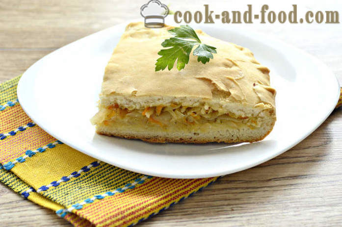 Lean yeast cake with cabbage - how to bake a meatless cabbage pie in the oven, with a step by step recipe photos