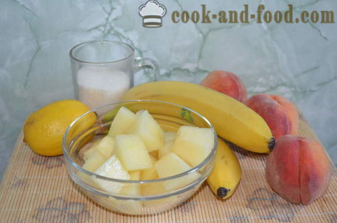 Ice cream sorbet melon, peach and banana - how to make a sorbet at home, step by step recipe photos