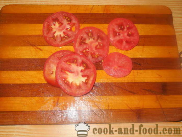 Meat with tomatoes and cheese in the oven - how to cook juicy meat in the oven, with a step by step recipe photos