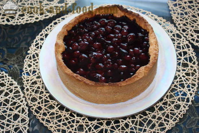 Sand Cherry Pie - how to bake a cake with a cherry in the oven, with a step by step recipe photos