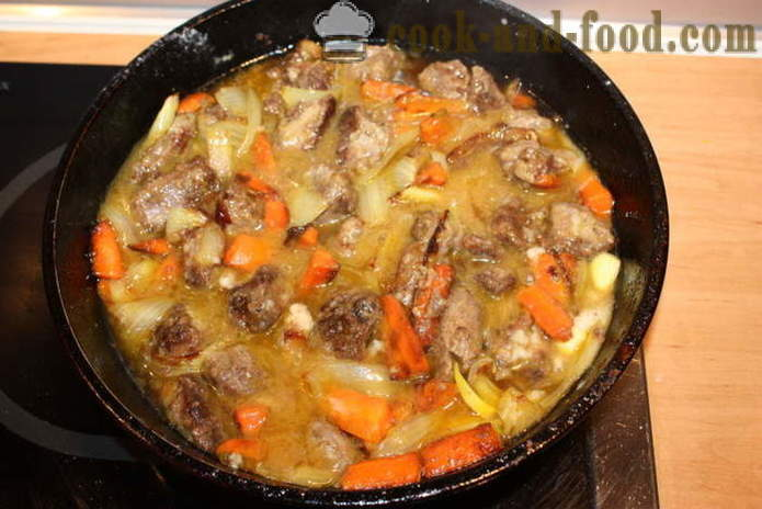 Lamb stew with onions, carrots and garlic - how to cook a delicious stew of lamb, a step by step recipe photos