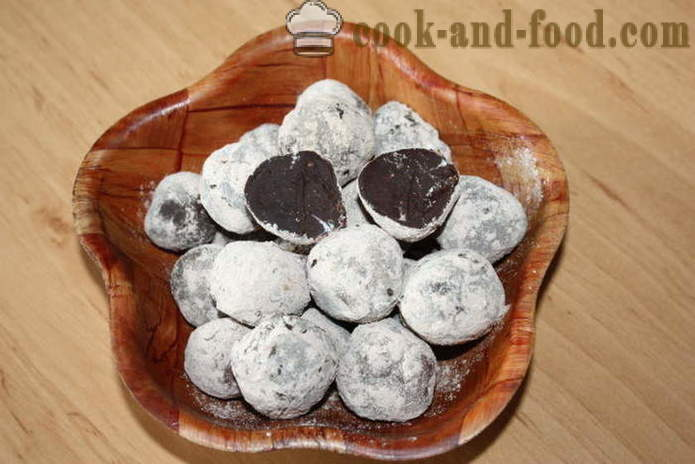 Homemade chocolate truffles - how to make truffles candy at home, step by step recipe photos