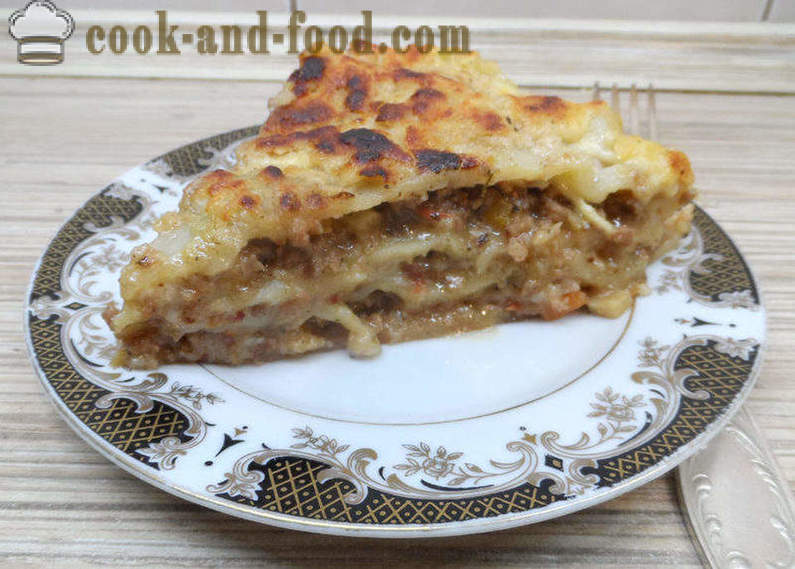 Lasagne with minced meat and bechamel sauce - how to prepare lasagna with minced meat at home, step by step recipe photos