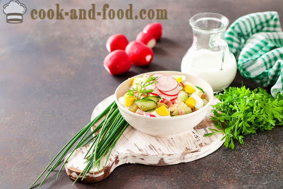 This summer okroshka with kefir - video recipes at home