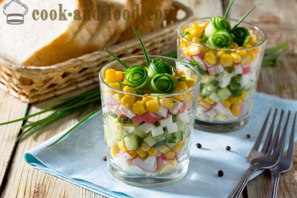 4 recipe salad of corn and green peas