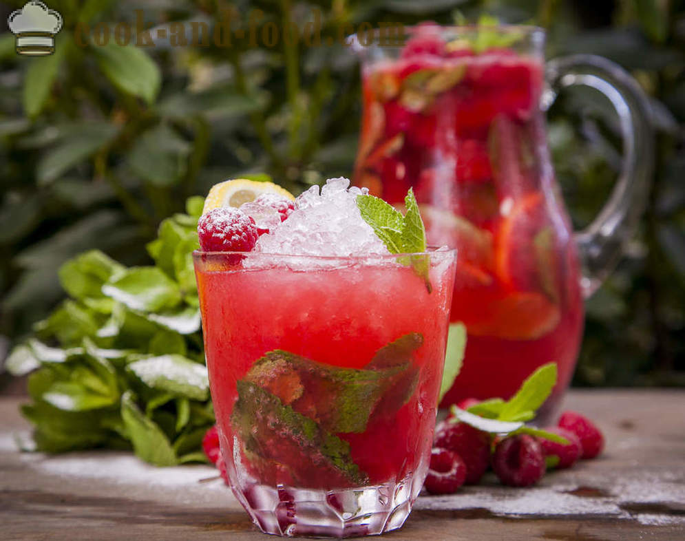 Fresh fresh: tangerine mojito mint and raspberry lemonade - video recipes at home