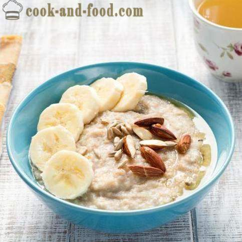 Lean porridge of oatmeal - video recipes at home